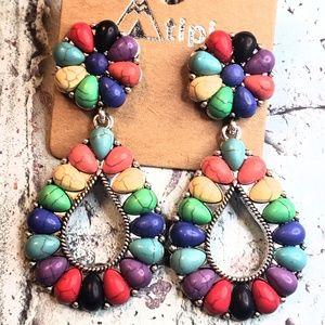 Jewelry - Boho carnival squash blossom earrings